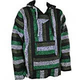 Siesta -  Felpa con cappuccio  - A righe - Uomo verde X-Large