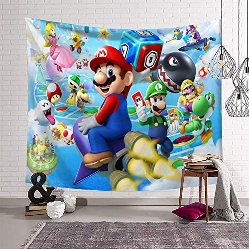 Students Like Tapestry Super Mario for Walls Dormitory Decorations Tapestry (180x230cm)