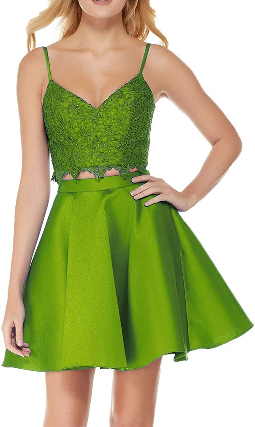 Fashionbride Women's Short Party Formal Gown Homecoming Dresses Two Piece ED76