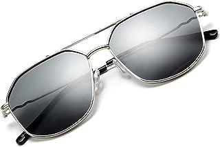 FEISEDY Classic Square Metal Hexagon Sunglasses Women Men 100% UV400 Polygon Sunglasses B2581