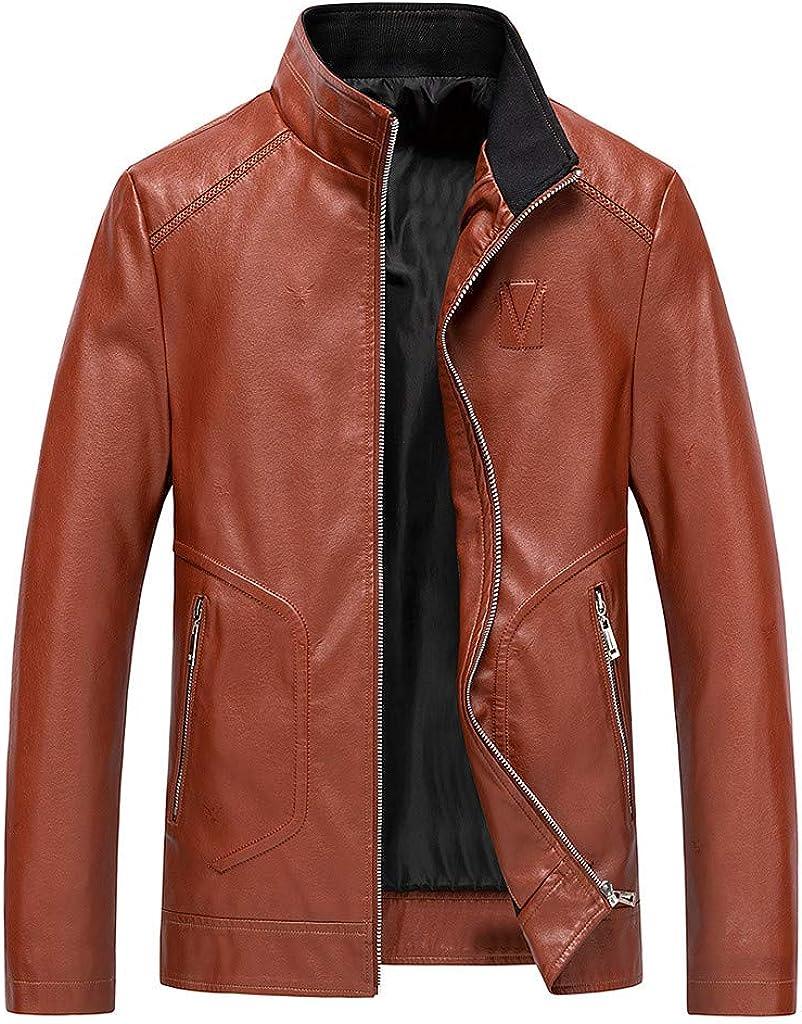 Leather shop Biker Jacket Men NRUTUP Faux Tall Jacke and Big Special sale item
