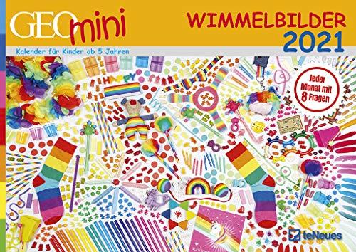 GEO Mini Wimmelbilder 2021 - Wand-Kalender - A3-Kalender - Kinder-Kalender - 42x29,7