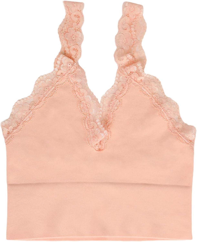 NIKIBIKI Women Seamless Lace Crop Top, One Size