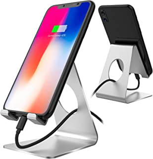 Stathm Mobile Phone Stand - Phone Dock Cradle, Holder, Stand for Office Desk Compatible with iPhone and All Android Smartp...