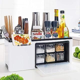 AWCPP Porte-Épices Multifonctions, Cuisine D'Assaisonnement de Cuisine Boîte de Rangement de Stockage de Stockage D'Organi...