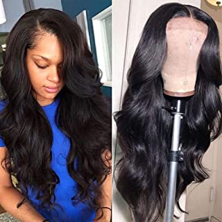 Lace Front Human Hair Wigs for Women Pre Plucked Hairline 150% Denisty Brazilian Body..
