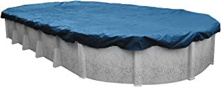 Pool Mate 352141-4PM Heavy-Duty Blue Winter Pool Cover for Oval Above Ground Swimming Pools, 21 x 41-ft. Oval Pool