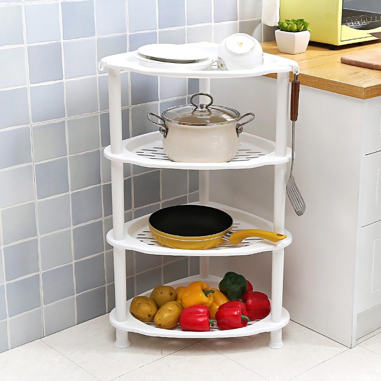 Shelves Plastic Floor Triangle Kitchen Living Room Debris Storage Rack Bathroom Washstands (Size   4 Layers)