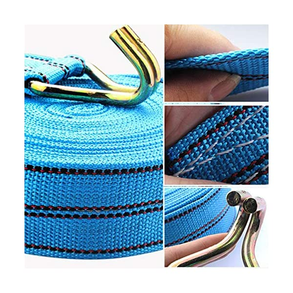 4 x 800 kg 5m Ratchet Tie Down Straps Lashing Straps with J-Hooks Tensioning Belt 25 mm 4 Pieces Set Adjustable Ratchet…