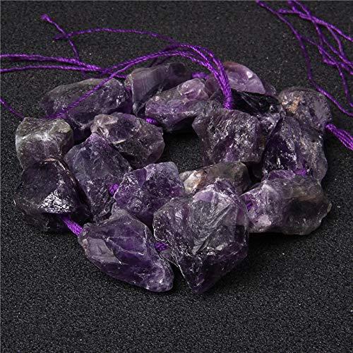 KUQIQI Natural Irregular Free Pure Pure Bray Purple Rose Cuarzo 18-28mm Cuentas de Cristal Mineral DIY Joyería (Color : Dark Amethyst)
