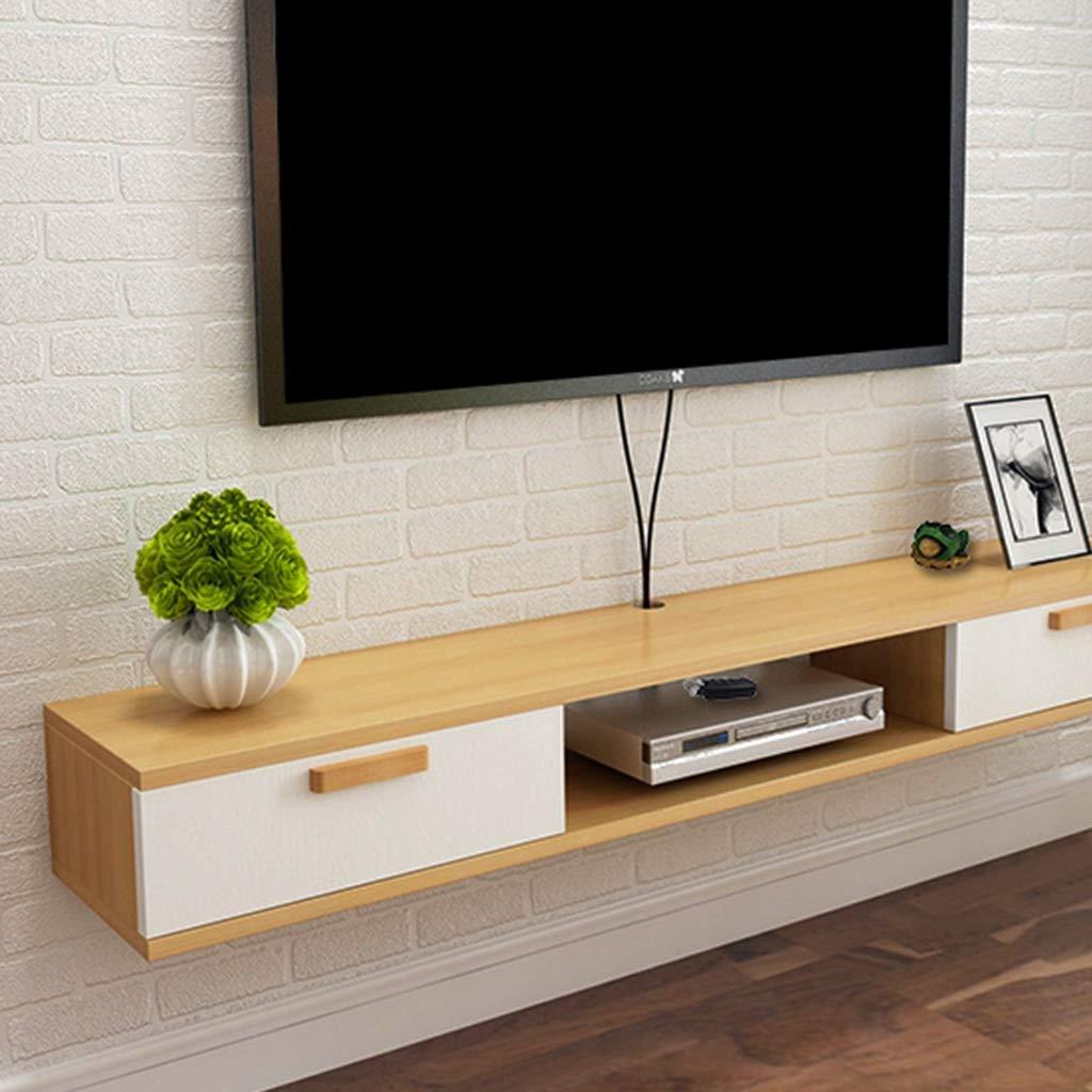 QX IAIZI Soporte de TV Flotante Pared Consola Multimedia Soporte para gabinete de TV Rack de Almacenamiento Reproductor de DVD/BLU-Ray Caja de TV satelital Caja de Cable: Amazon.es: Hogar