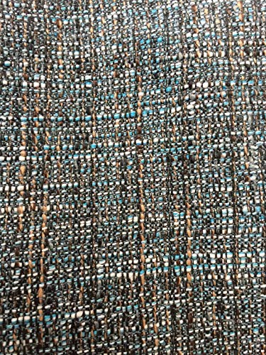 OctoRose Full Size 3 Side Zipper Upholstery Heavy Duty Thick Linen Futon Cover Sofa Bed Mattress Cover (Linen-TealBlue)