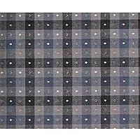 SQINAA糸染め生地ピュアコットンテーブルクロス耐摩耗性パジャマ用通気性良好家庭用衣類145x50cm,Dark blue