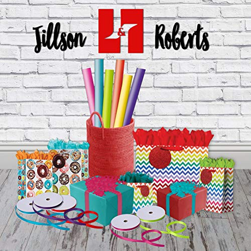 Jillson Roberts 6 Roll-Count All-Occasion Solid Color Gift Wrap Available in 10 Different Assortments, Perfectly Primary