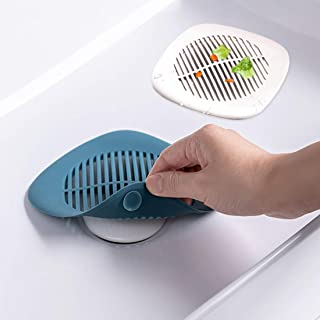 Drain Hair Catcher, Shower Drain Hair Trap, Silicone Drain Cover Suction, Sink Drain Hair Stopper, Water Trap Cover for Ba...