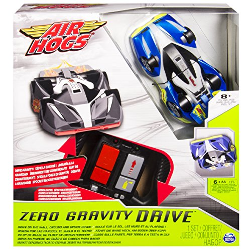 Air Hogs Zero Gravity Drive Motor eléctrico On-Road Racing Car - vehículos de Tierra por Radio Control (RC) (Listo para Usar, Motor eléctrico, On-Road Racing Car, Negro, Azul, AA, Caja)