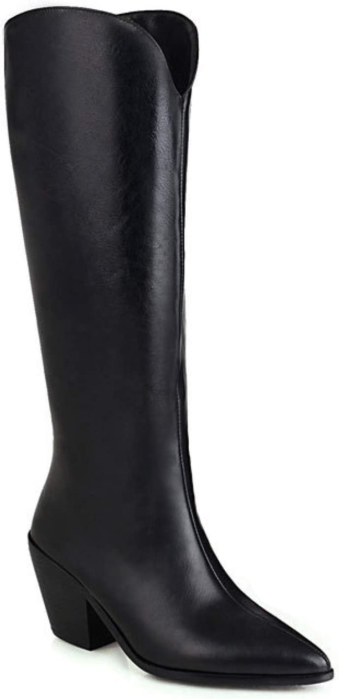 FMTZZY High Heels for Women Max Virginia Beach Mall 83% OFF Women's We Toe Pointy Cowgirl Cowboy