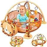 Couverture pour bébé avec un arc et des balles / Motif du grand tigre / couverture de jeu avec jouets pour bébé