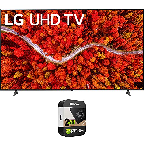 LG 86UP8770PUA 86 Inch AI ThinQ 4K UHD Smart TV (2021 Model) Bundle with Premium 2 Year Extended Protection Plan