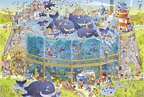 KONGTAB Volwassen 1500 Stuk Houten Puzzel Educatief Speelgoed Game Partitie Accessoires Aquarium voor Familie Wanddecoratie Cadeau-87x57cm