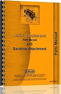 Allis Chalmers 615 Backhoe Attachment Parts Manual