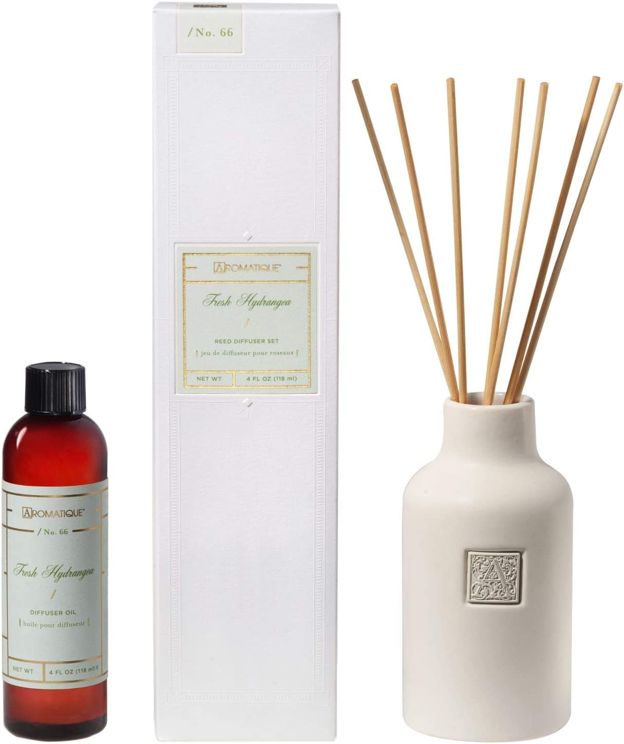 Aromatique Fresh Hydrangea Reed Set Diffuser Max 87% OFF Cheap mail order specialty store 63-223
