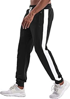 TBMPOY Men's Tapered Athletic Running Pants Joggers Workout Training Sweatpants with Pockets