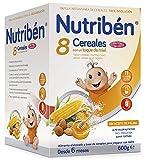 Nutriben Papilla 8 cereales con toque de miel y frutos secos 600 gr