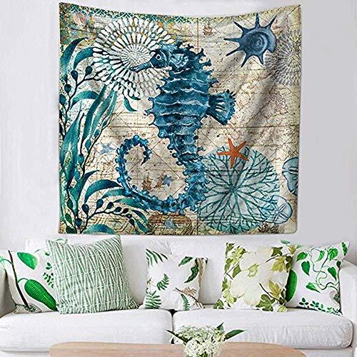 Foairs Tapiz Colgar En La Pared PsicodéLico Blue Multi-Colored Mandala Tapestry Indian Wall Hanging Bedsheet Dormitorio DecoracióN Coverlet Picnic Beach Sheet