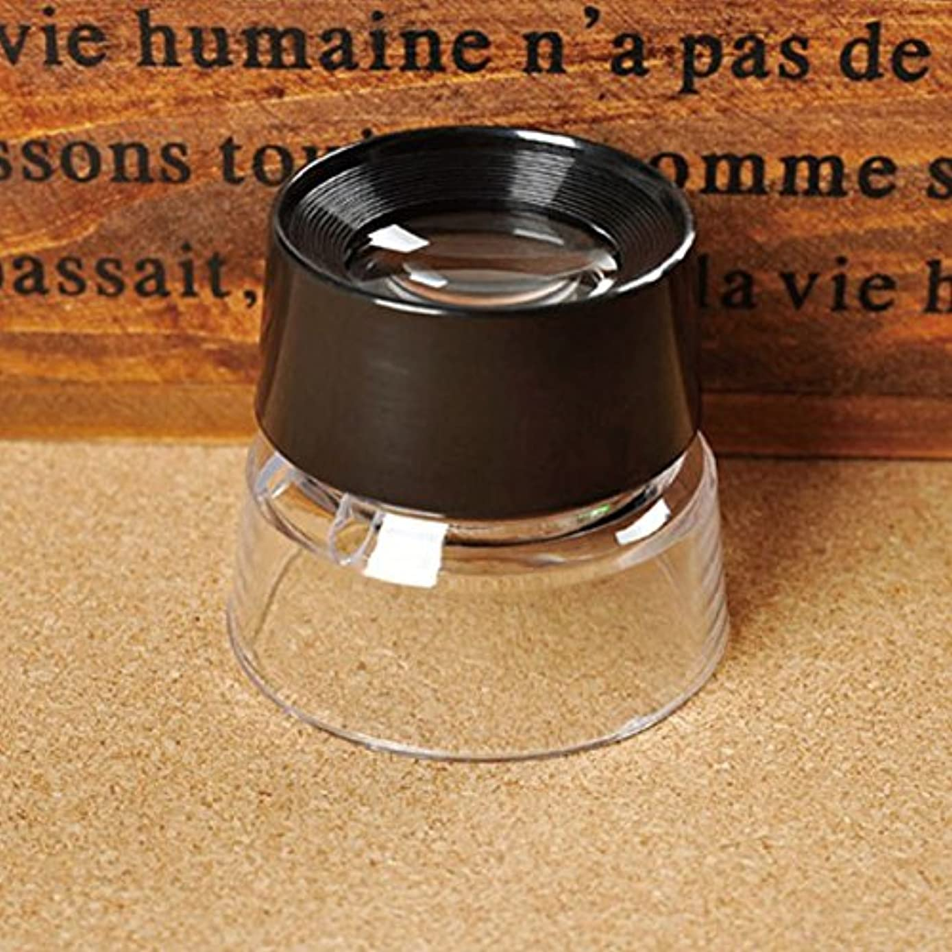 HighPlus 10X Magnifying Glass Magnifiers Microscope for Jeweler Loupe Stamp Antique
