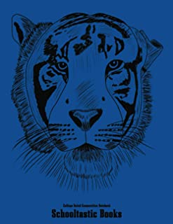 College Ruled Composition Notebook: Tiger Awareness Endangered Species Big Cats 100 Pages 8.5X11 inches Medium Ruled Journ...