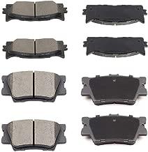 SCITOO 8pcs Front Rear Ceramic Brake Pads fit for 2013-2017 Lexus ES300h,2007-2017 Lexus ES350,2008-2018 Toyota Avalon,2007-2017 Toyota Camry