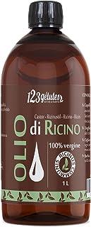 Olio di Ricino 1L -100% virgine -1a spremitura a freddo - Ricinus Communis