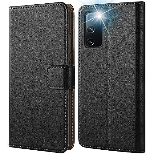 HOOMIL für Samsung Galaxy S20 FE Hülle, Premium Leder Flip Hülle Handyhülle für Samsung S20 FE Hülle, Schwarz (Nicht für S20)