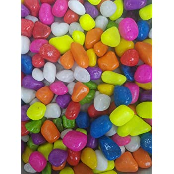 Buy Devu Parbat Enterprise Stone Glossy And Decorative Garden And Glass Pebbles Multicolour 450 G Online At Low Prices In India Amazon In