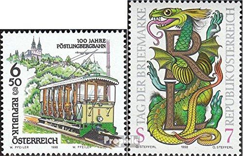 Prophila Collection Österreich 2259,2260 (kompl.Ausg.) 1998 Pöstlingbergbahn, Tag der Briefmark (Briefmarken für Sammler) Eisenbahn