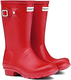 Official Brand Hunter Original Wellington Boots Childs Boys Red Wellies Gum Boots Waterproof