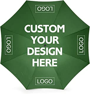 Custom Print Umbrellas With Your Logo or Image Personalized Rainy/Sunny Foldable Windproof Diy Advertising Umbrella Gift