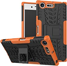 JARNING Case for Sony Xperia XZ Premium/G8141 G8142 Heavy Duty Shock Proof Armour Dual Protection Cover with Built-in Kickstand Premium Quality TPU and PC Rugged Shockproof Case Orange