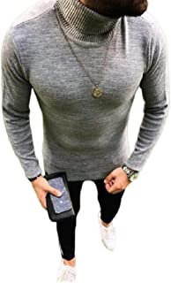 SHOWNO Mens V-Neck Long Sleeve Knitting Slim Fit Contrast Pullover Sweaters