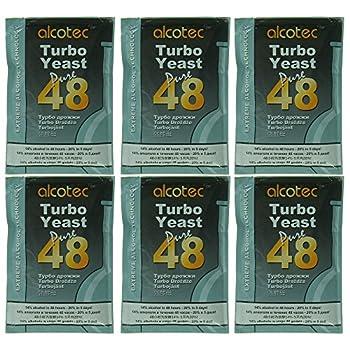 Alcotec 48 Hour Turbo Yeast  Pack of 6