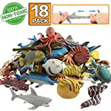 ValeforToy Ocean Sea Animal,18 Pack Rubber Bath Toy Set,Food Grade Material TPR Super Stretchy, Some...