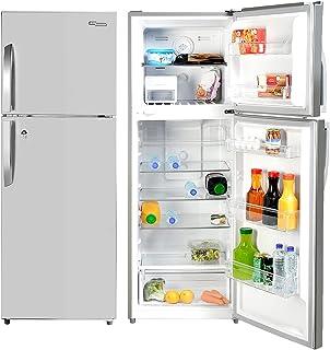 Super General 410 Liters Gross Top-Mount Refrigerator-Freezer, No-Frost, LED-light, Lock & Key, Inox, SGR-410-l, 60.5 x 67...
