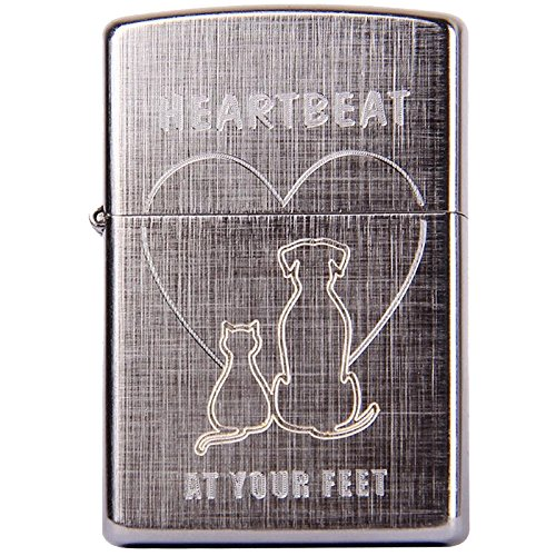 Zippo Classic Heartbeat at Your Feet 29258-29258 - Accendino