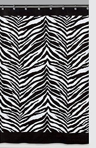 zebra stripe shower curtain