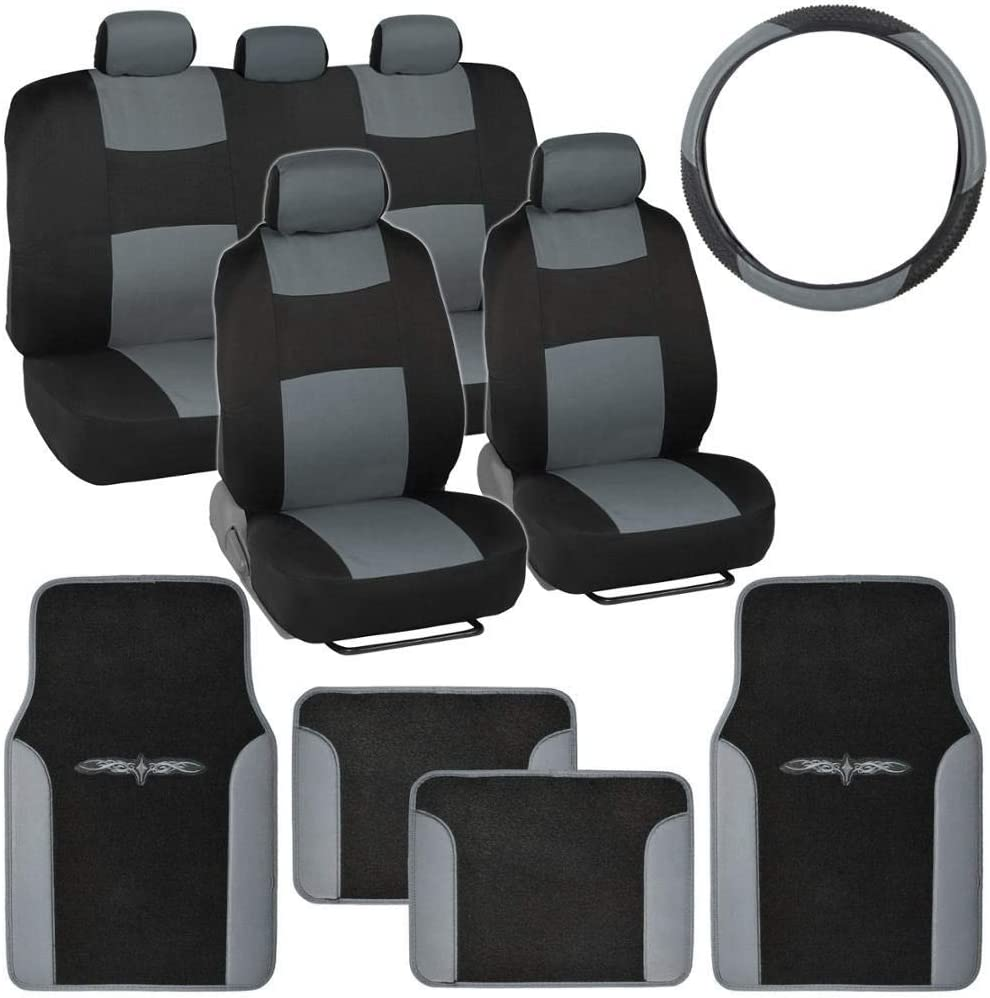BDK Gray Combo Direct stock discount depot Fresh Design All Seat Protective Covers Matching