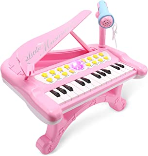 Sommer Kids Electronic Mini Piano Toy with Microphone and Ph