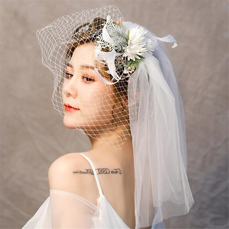 Elegant Lady Fascinator Flowers Sweet Retro Court Mesh Hat Cap Cocktail Hair Accessories