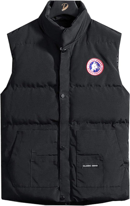 Men's Padded Puffer Down Vest Lightweight Cotton Stand Collar Zipper Up Sleeveless Jackets Gilet Perfect for Work