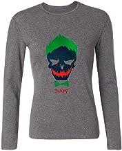 sljd Joker suicidio Squad diseño de payaso de la mujer algodón de manga larga T Shirt